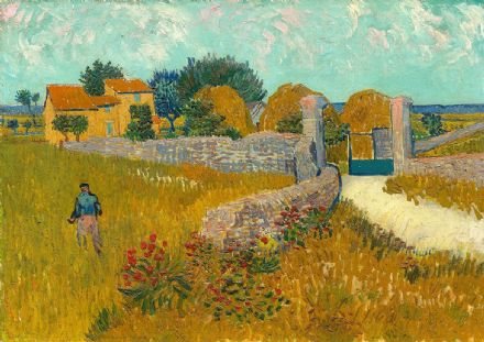 Van Gogh, Vincent: Farmhouse in Provence. Fine Art Print/Poster. Sizes: A4/A3/A2/A1 (004129)